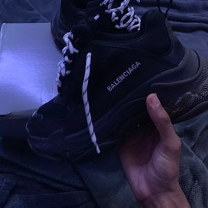 Balenciaga Triple S Triple Black (Pre Distressed)